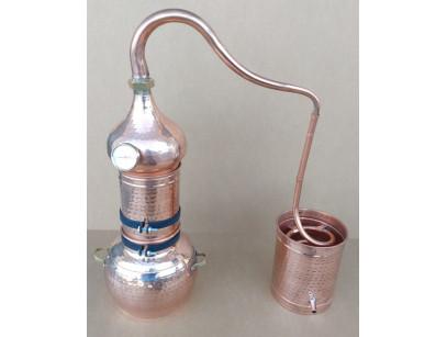 Alambique de cobre columna de 5 litros con termometro.