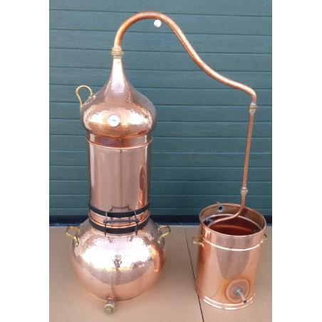 Alambic de colonne en cuivre 50 litres Thermomètre inclus