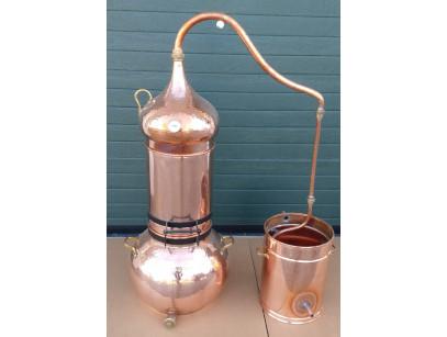Alambique de cobre columna de 50 litros con termometro