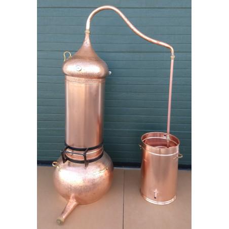 alambicco a colonna 100 litri Termometro incluso in rame