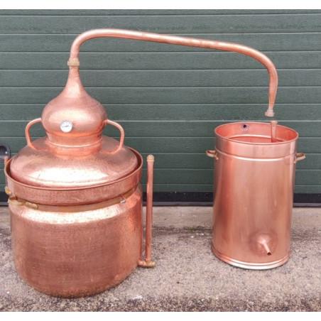 Alambique de cobre 100 litros Baño María con termómetro incluido