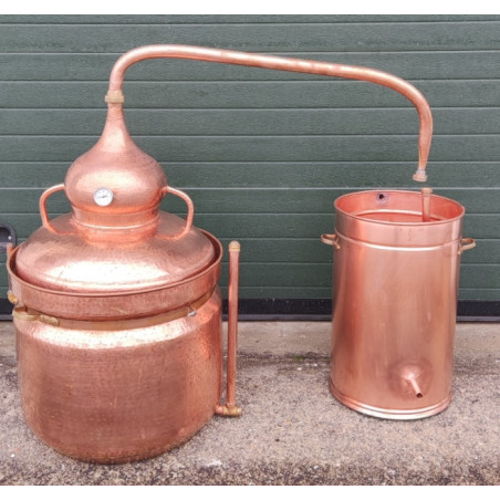 Alambique de cobre 80 litros Baño María con termometro