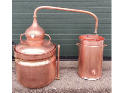 Copper Bain Marie Distiller 80 litres  thermometer included