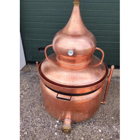 Copper Bain Marie Distiller 200 litres with bottom drain