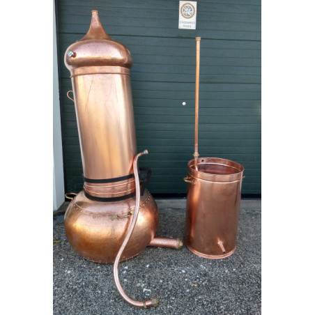 Column Copper Still and Distiller 200 litres Thermometer included