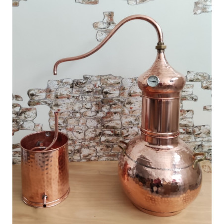 Alambicco gin a 10 litri in rame