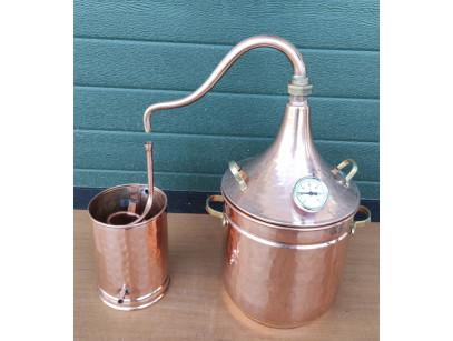 Alambique de cobre 10 litros para plantas con termómetro