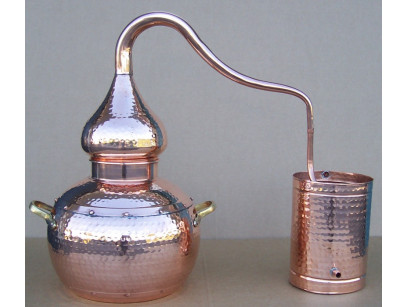 Alambicco tradizionale a 10 litri in rame