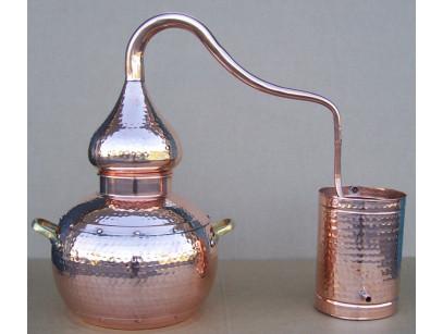 Alambique de cobre de 10 litros tradicional