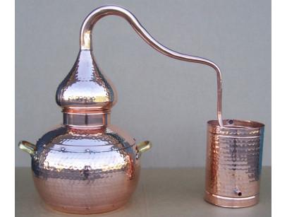 Alambicco tradizionale a 3 litri in rame