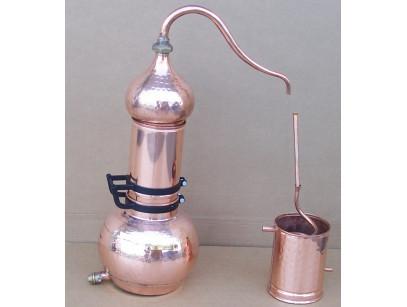 Alambique de columna de cobre de 15 litros con termometro.