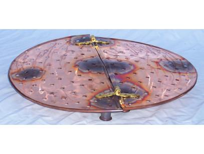copper Shelf of 54 cm, 100 litres alembic