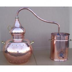 Alambique 50 litros tradicional con termometro, alcoholimetro,  rejilla  y quemador