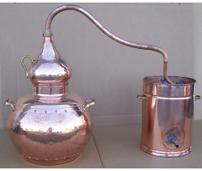 Alembic traditional to 50 liters, thermometer, copper grid, Breathalyzer, gas burner