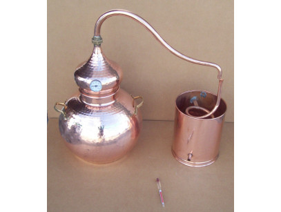 Alembic traditional to 30 liters, Thermometer and Breathalyzer