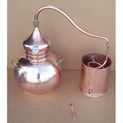 Alambic traditionnel 25 litres Thermomètre et Alcoomètre