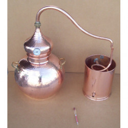 Alambique 25 litros tradicional con termometro y alcoholimetro