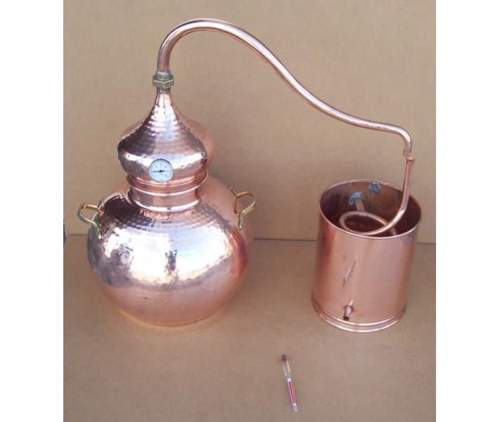 Alambicco tradizionale a 25 litri Termometro e Etilometro