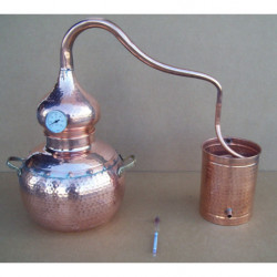 Alambique 15 litros tradicional con termometro y alcoholimetro