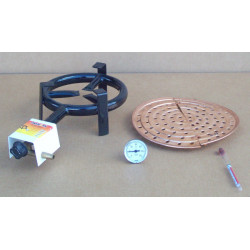 copper grid, gas burner
