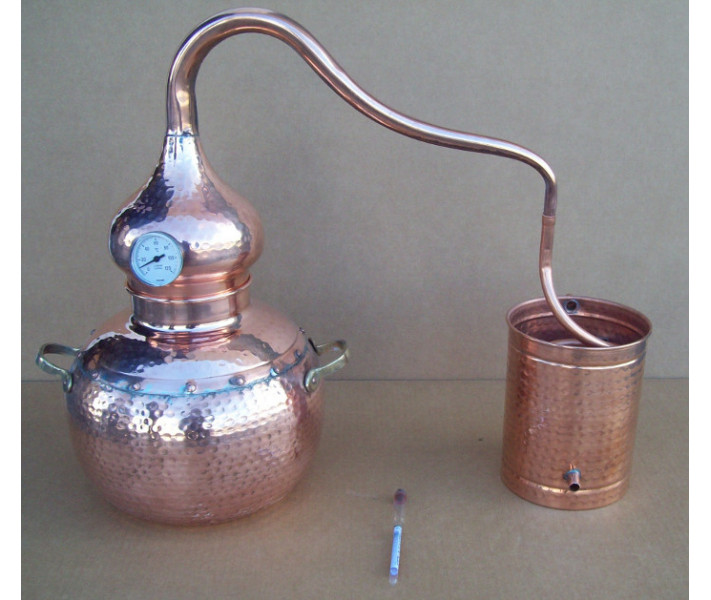 Alembic traditional to 5 liters Thermometer and Breathalyzer included