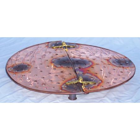 Grille de cuivre  60 cm, pour alambic 150 litres