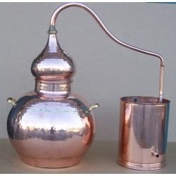 Alambique 30 litros tradicional con termometro, alcoholimetro, rejilla y quemador