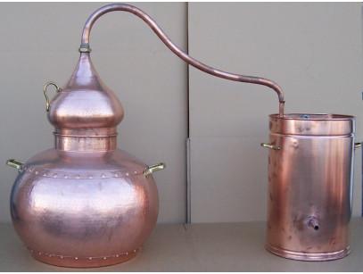 Alambique de cobre 200 litros tradicional