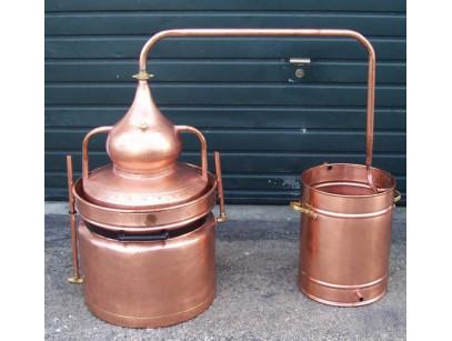 Alambique de cobre 10  litros baño maria con termometro